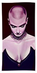 Sinead O'connor Beach Towel by Paul Meijering