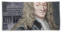 Sir Christopher Wren, Architect Beach Sheet by Science Source