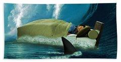 Sleeping With Sharks Beach Towel by Marian Voicu