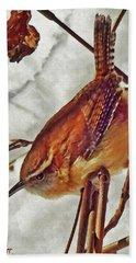 Slim Pickens, Carolina Wren Beach Sheet by Ken Everett