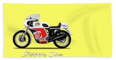 Slippery Sam Production Racer Beach Towel by Mark Rogan