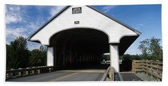 Smith Covered Bridge - Plymouth New Hampshire Usa Beach Sheet by Erin Paul Donovan