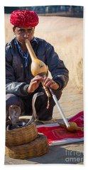 Snake Charmer Beach Sheet by Inge Johnsson