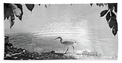 Snowy Egret Beach Towel by Sandy Taylor