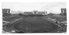 Soldier Field In Chicago Beach Sheet by Underwood Archives