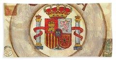Spain Coat Of Arms Beach Towel by Debbie DeWitt