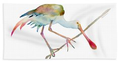 Spoonbill  Beach Towel by Amy Kirkpatrick