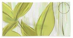Spring Shades - Muted Green Art Beach Towel by Lourry Legarde