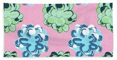 Spring Succulents- Art By Linda Woods Beach Towel by Linda Woods