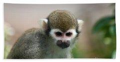 Squirrel Monkey Beach Towel by Amanda Elwell