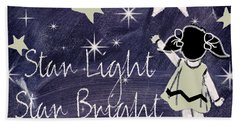Star Light Star Bright Chalk Board Nursery Rhyme Beach Towel by Mindy Sommers