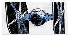 Star Wars Tie Fighter Beach Towel by Edward Fielding