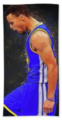 Steph Curry Beach Towel by Semih Yurdabak
