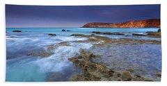 Storm Light Beach Sheet by Mike  Dawson