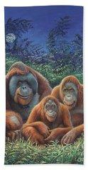 Sumatra Orangutans Beach Sheet by Hans Droog