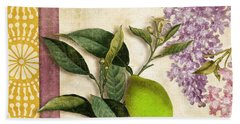 Summer Citrus Lime Beach Towel by Mindy Sommers