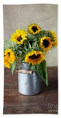 Sunflowers Beach Towel by Nailia Schwarz