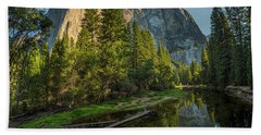 Sunrise On El Capitan Beach Sheet by Peter Tellone