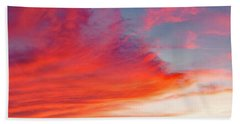 Beach Towel featuring the photograph Sunset Over A Lake, Pocono Mountains, Pennsylvania by A Gurmankin