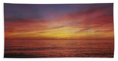 Sunset Over A Sea, Gulf Of Mexico Beach Towel by Panoramic Images