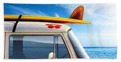 Surf Van Beach Towel by Carlos Caetano
