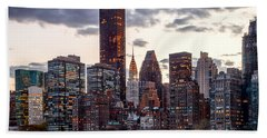 Surrounded By The City Beach Towel by Az Jackson