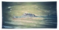 Swamp Gator Blues Beach Towel by Carol Groenen
