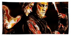 Sweeny Todd - Johnny Depp,helena Bonham Beach Sheet by Prar Kulasekara