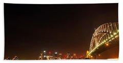 Sydney By Night Beach Sheet by Kaleidoscopik Photography