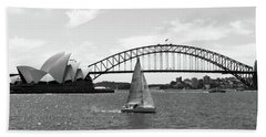Sydney Harbour No. 1-1 Beach Towel by Sandy Taylor