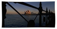 Beach Towel featuring the photograph Sydney Opera House by Travel Pics