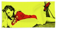 Taylor Swift 10r Beach Towel by Brian Reaves