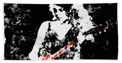 Taylor Swift 90c Beach Towel by Brian Reaves