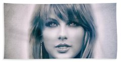 Taylor Swift - Beautiful Beach Towel by Robert Radmore