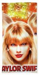 Taylor Swift - Beautiful Vision Beach Towel by Robert Radmore