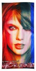 Taylor Swift - Sparks Alt Version Beach Sheet by Robert Radmore