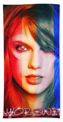 Taylor Swift - Sparks Beach Towel by Robert Radmore