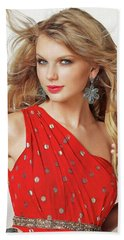 Taylor Swift Beach Towel by Twinkle Mehta