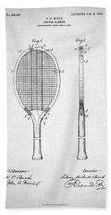 Tennis Racket Patent 1907 Beach Sheet by Taylan Apukovska