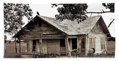 Texas Buzzard Farmhouse I Beach Sheet by Chris Andruskiewicz