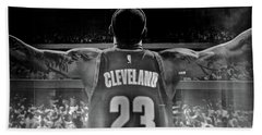 Thanks Lebron Beach Towel by Frozen in Time Fine Art Photography