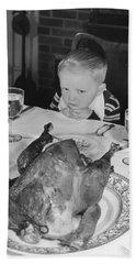 Thanksgiving Dinner Beach Sheet by American School