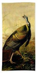 The American Wild Turkey Cock Beach Towel by John James Audubon