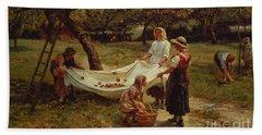 The Apple Gatherers Beach Sheet by Frederick Morgan