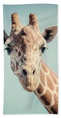 The Baby Giraffe Beach Towel by Lisa Russo