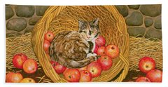 The Basket Mouse Beach Towel by Ditz