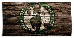 The Boston Celtics 6f Beach Sheet by Brian Reaves