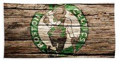 The Boston Celtics 6h Beach Towel by Brian Reaves