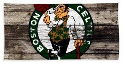 The Boston Celtics W10 Beach Towel by Brian Reaves