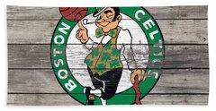 The Boston Celtics W8 Beach Towel by Brian Reaves